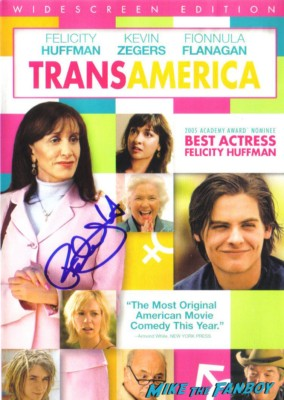 felicity huffman signed autograph transamerica dvd cover rare promo movie poster hot desperate housewives