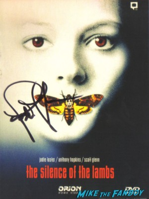 jodie foster signed autograph silence of the lambs promo mini movie poster promo hot rare signature