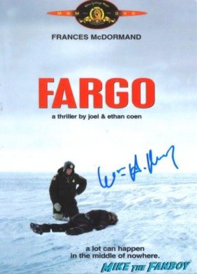 william h macy signed fargo mini movie poster rare promo autograph promo frances mcdormand