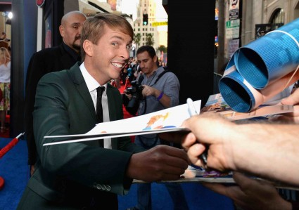 "jack mcBrayer signs autographs for fans at the Premiere Of Walt Disney Animation Studios' ""Wreck-It Ralph"" - Red Carpet"