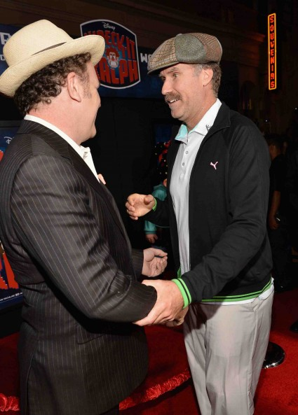 "john C. Reilly and Will Ferrell arrives at the Premiere Of Walt Disney Animation Studios' ""Wreck-It Ralph"" - Red Carpet"