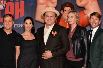 "john C. Reilly and Will Ferrell sarah silverman arrives at the Premiere Of Walt Disney Animation Studios' ""Wreck-It Ralph"" - Red Carpet"