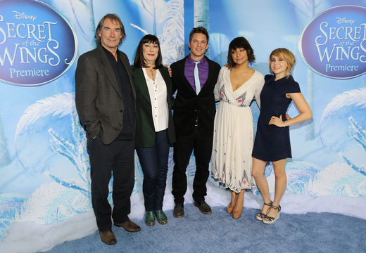 timothy dalton at the Tinkerbell secret of the wings new york movie premiere with mike tyson angelica huston matt lanter timothy dalton mae whitman