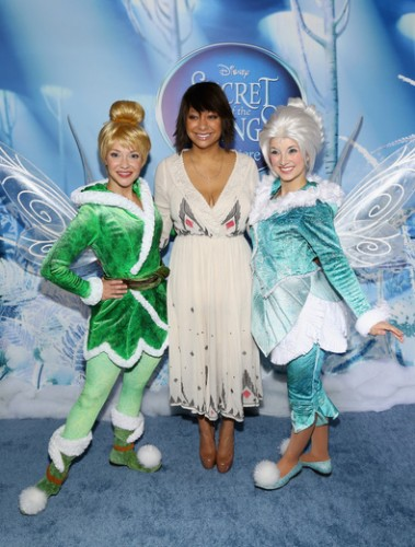 Raven-Symoné at the Tinkerbell secret of the wings new york movie premiere with mike tyson angelica huston matt lanter timothy dalton mae whitman