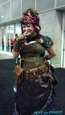 Ellie Copperbottom from the League of Steam out and about steampunk cosplay at stan lee's comikaze 2012