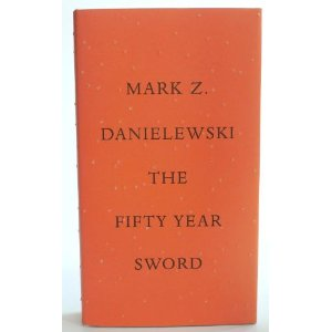 the fifty year sword by Mark Z Danielewski cover art rare promo dust jacket key art promo rare