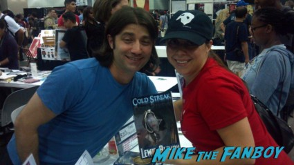 the novel strumpet taking a photo with Lewis Aleman at comikaze 2012 hot sexy book authors autographs
