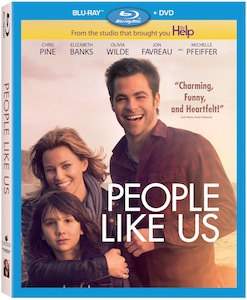 people like us blu ray cover chris pine key art rare hot elizabeth banks michelle pfeiffer