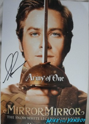 Armie Hammer signed autograph prince photo mirror mirror individual promo movie poster signed autograph hot sexy rare promo