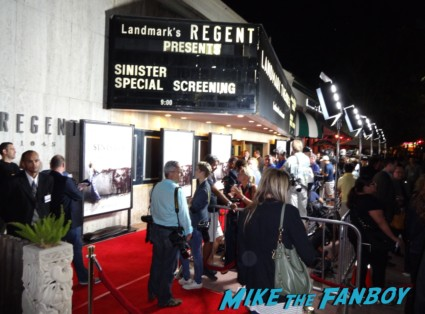 Sinister movie premiere at the landmark regent theater ethan hawke rare promo signing autographs for fans