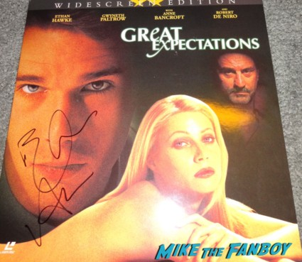 Ethan Hawke signed autograph Great Expectations Laser disc cover rare promo ethan hawke signing autographs for fans Sinister movie premiere at the landmark regent theater ethan hawke rare promo signing autographs for fans