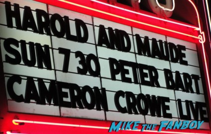 cameron crowe aero theater marquee harold and maude screening and q and a rare promo theater marquee