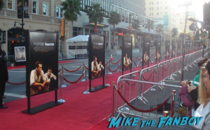 the fighter movie premiere in hollywood red carpet with christian bale marky mark wahlberg amy adams