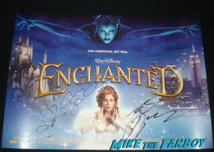 amy adams signed autograph enchanted uk quad mini movie poster rare promo patrick dempsey
