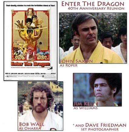enter the dragon 40th anniversary reunion john saxon hollywood show cast reunion rare promo