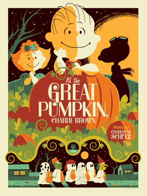 charlie brown the great pumpkin rare promo one sheet movie poster peanuts