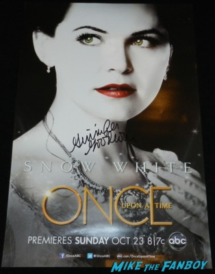 Ginnifer goodwin signed autograph once upon a time rare promo individual mini poster signing autographs for fans 031