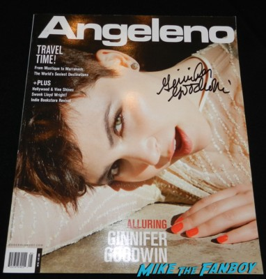 Ginnifer Goodwin signed autograph angeleno magazine covers rare promo big love once upon a time Ginnifer goodwin signing autographs for fans 035