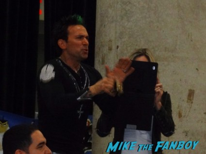jason david frank the original green power ranger from the mighty morphin power rangers at new york comic con nycc 2012