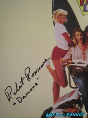 Robert Romanus signed autograph fast times at ridgemont high laser disc damone hot sexy fast times at ridgemont high star rare promo