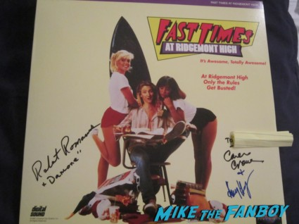 Robert Romanus signed autograph fast times at ridgemont high laser disc damone camerone crowe amy heckerling rare promo movie poster rare