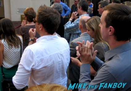 Sean Murray signing autographs for fans at mark harmons walk of fame star ceremony in hollywood hocus pocus star