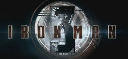 Iron Man 3 logo 3d rare walt disney marvel promo tony stark robert downey Jr. promo graphic