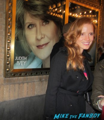 Jessica Chastain signing autographs for fans after a performance of Heiress on Broadway in new york hot sexy photo shoot