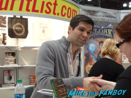Michael Boccacino book signing at new york comic con nycc 2012 harlotte Markham and the House of Darkling