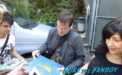 stephen morris signing autographs for fans from new order rare promo los angeles greek theater signed regret 12: LP