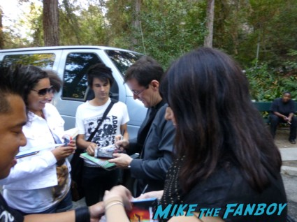 stephen morris and Gillian Gilbert signing autographs for fans from new order rare promo los angeles greek theater signed regret 12: LP
