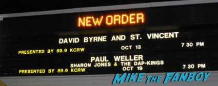 New order greek theater los angeles october 2012 live in concert rare promo bernard strummer