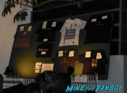 new order merchandise table 2012 summer world tour bernard sumner  new order  los angeles greek theater live in concert rare Gillian Gilbert and Stephen Morris concert photo