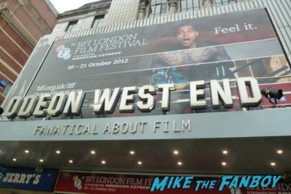 BFI London Film Festival rare blood movie premiere rare paul bettany signing autographs for fans rare