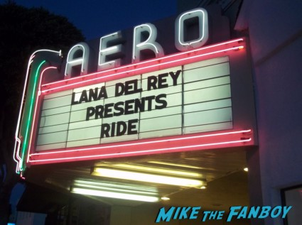 lana del rey presents her short film ride at the aero theater in santa monica rare promo hot sexy songstress marquee