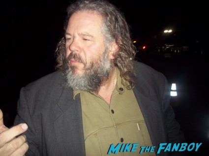 Mark Boone Junior from sons of anarchy signing autographs for fans at the season 5 wrap party