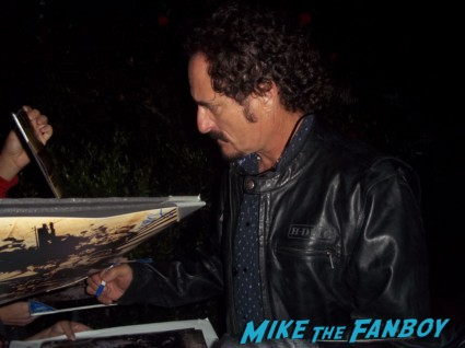 Kim Coates from sons of anarchy signing autographs for fans at the season 5 wrap party