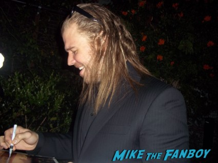 Ryan Hurst from sons of anarchy signing autographs for fans at the season 5 wrap party