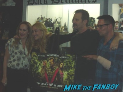 The Victim dvd autograph signing at dark delicacies Writer/director/star Michael Biehn; Co-star/producer Jennifer Blanc-Biehn; Co-stars Danielle Harris (schedule permitting), Tanya Newbould and Alyssa Lobit; Soundtrack songwriter Randy Chance…