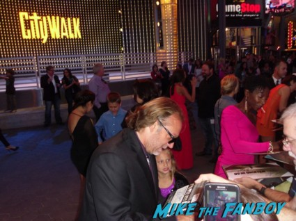 Glen Mazzara and Gregory Nicotero signing autographs for fans at the walking dead season 3 premiere at universal citywalk andrew lincoln rare promo hot