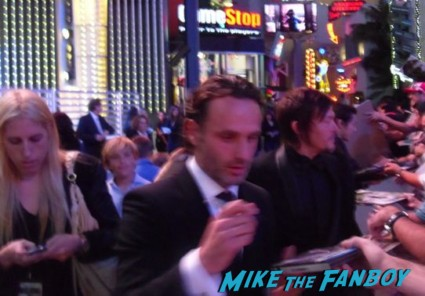 Andrew Lincoln signing autographs for fans at the walking dead season 3 premiere at universal citywalk andrew lincoln rare promo hot