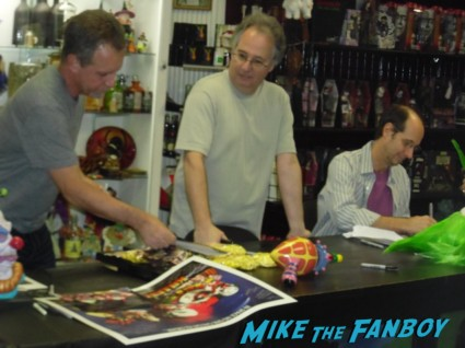 Killer Klowns from Outerspace DVD signing Charles Chiodo Edward Chiodo Stephen Chiodo Killer Klowns from Outerspace DVD signing