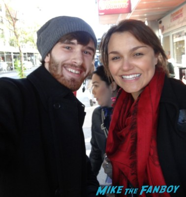Samantha Barks signing autographs for fans including dan and takes a fan photo hot sexy new yorkers signing autographs rare
