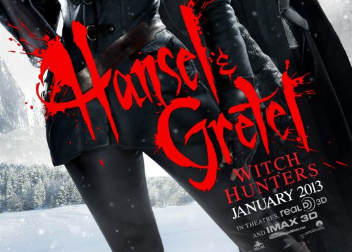 Hansel and Gretel Witch Hunters movie poster teaser one sheet jeremy renner hot sexy black leather gemma arterton logo