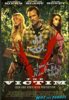 Michael Biehn signed autograph the victim mini poster rare hot sexy the victim signing The Victim dvd autograph signing at dark delicacies Writer/director/star Michael Biehn; Co-star/producer Jennifer Blanc-Biehn; Co-stars Danielle Harris (schedule permitting), Tanya Newbould and Alyssa Lobit; Soundtrack songwriter Randy Chance…