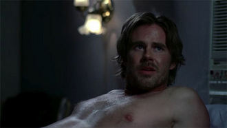 true blood shirtless sexy hot sam trammel sam merlotte rare press promo still bare chested naked rare promo