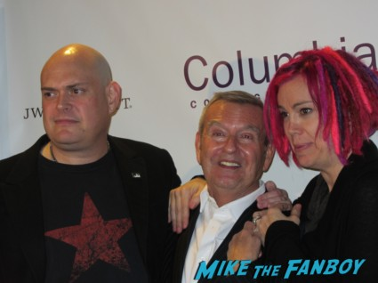 Lana and Andy Wachowski signing autographs for fans and posing for photos the matrix directors cloud atlas