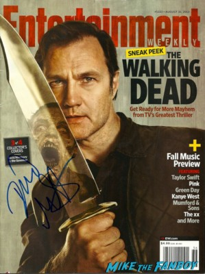 the governor david morrissey signed autograph the walking dead entertainment weekly magazine cover david morrissey signing autographs for fans at the walking dead season 3 premiere at universal citywalk andrew lincoln rare promo hot