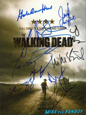 The walking dead season 2 promo mini poster signed autograph cast andrew lincoln sarah wayne callies norman reedus laurie holden