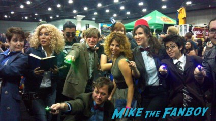 Comikaze expo 2012 captain jack harkness and the tardis from Dr. Who cosplay rare